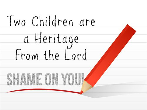 Two Children are a Heritage From the Lord (After That, You Should Know Better)